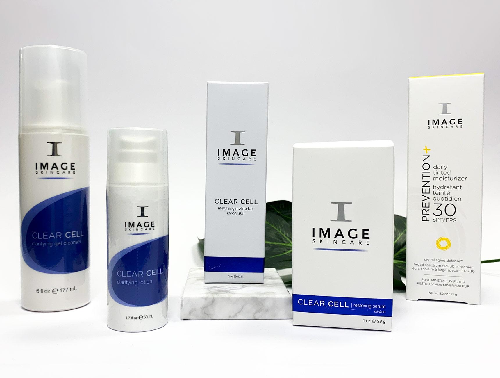 Image Skincare routine acne