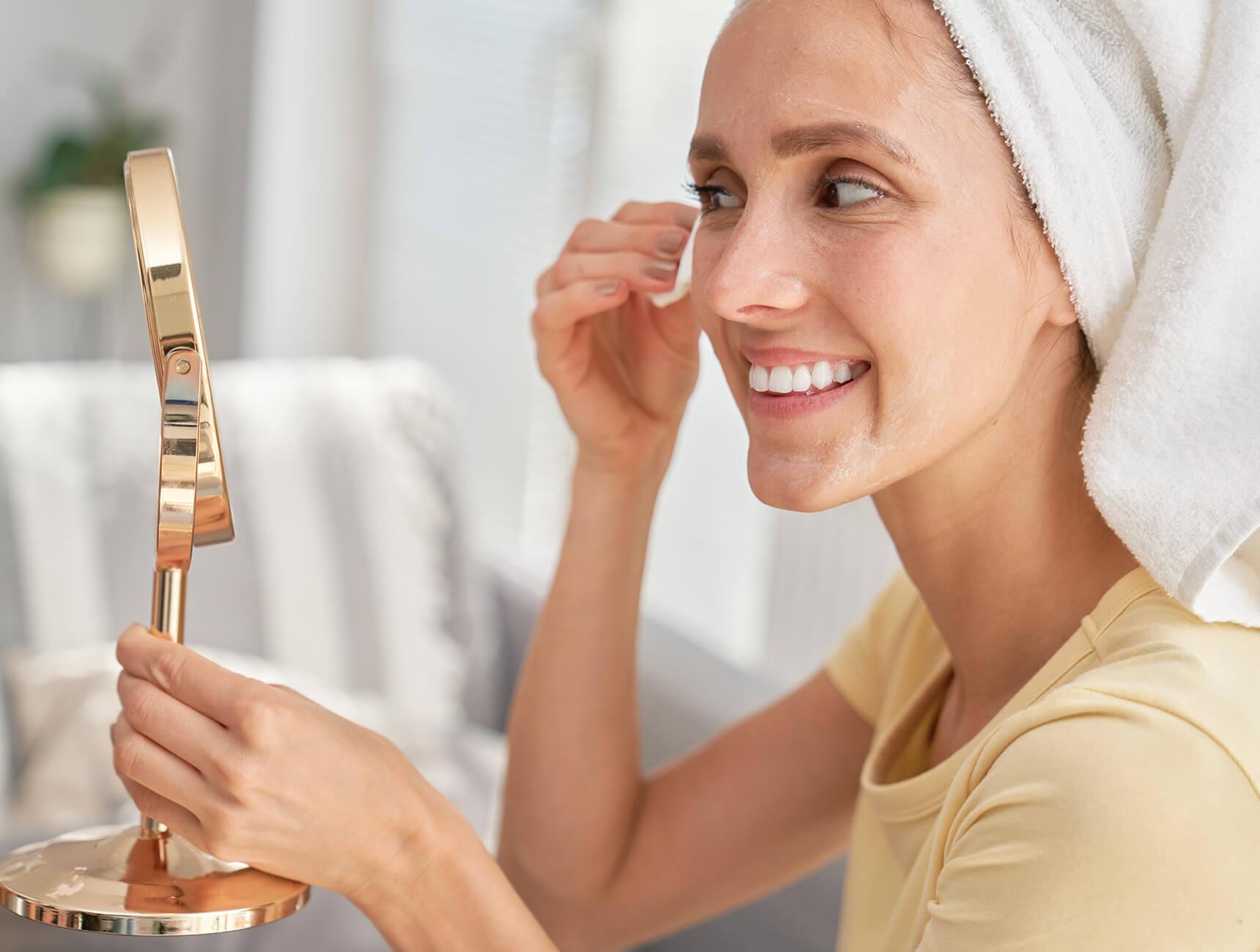 gezicht reinigen met cleanser